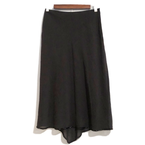 Banana Republic Silk Blend Tulip Midi Skirt
